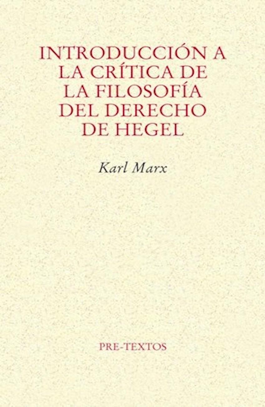 Introducción a la crítica de la filosofía ...
